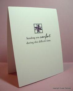 Beautiful sympathy card by LateBlossom