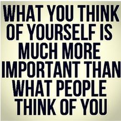 Such an important lesson to learn in life. Caring too much about what other people think will destroy your heart.