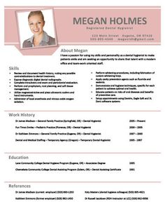 registered dental hygienist resumes success get this and other
