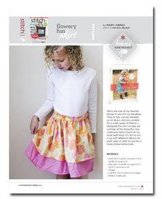 Free Sewing Pattern: Flowery Fun Skirt - Media - Sew Daily
