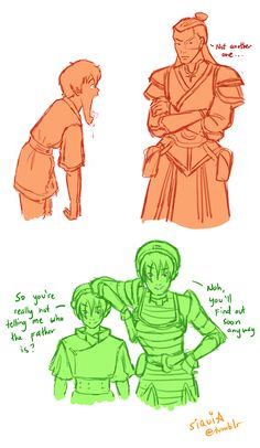 Young Team Avatar meeting their older selves part 2