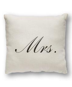 'Mrs.' Throw Pillow
