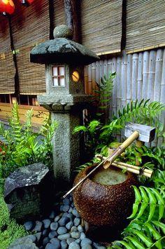 Tsukubai, water basin, ~ Yasaka Shrine, Kyoto, Japan