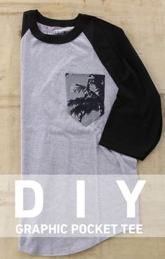 DIY graphic pocket tee. http://blog.swell.com/DIY-Graphic-Pocket-Tee