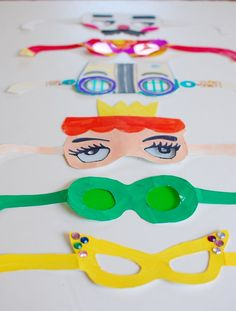 Fun paper glasses for kids #crafts #diy #kids