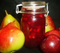 Plum Kissed Pear Jam....