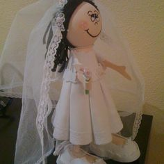 Fofucha novia lateral derecho/Bride fofucha doll right side