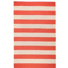 DwellStudio Draper Stripe Brick Red Rug   DwellStudio