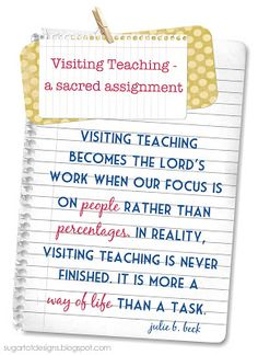 June Visiting Teaching Message {free printable}