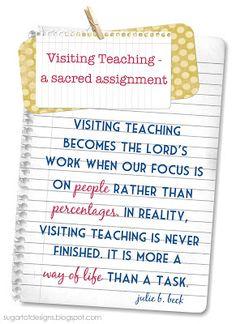 June Visiting Teaching Message {free printable}