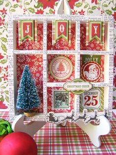 Christmas Shadow Box from This & That Christmas Collection. #echoparkpaper