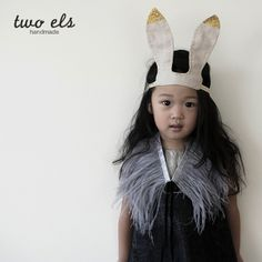 Bunny Ear Hairband (Beige) | Accessories | two els / Holiday13-14.