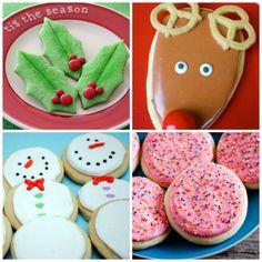 Santa's Favorites: 15 Holiday Sugar Cookie Recipes  Spoonful #cookies #reindeer