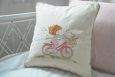 Throw Pillow Cover from lazydoll on etsy
