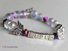 Lupus Awareness Butterfly Bracelet: Made to Order