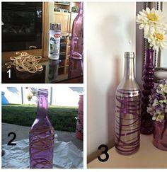DIY Rubber Band Wine Bottle! www.facebook.com/GetyourACEinSHAPEwithAmber
