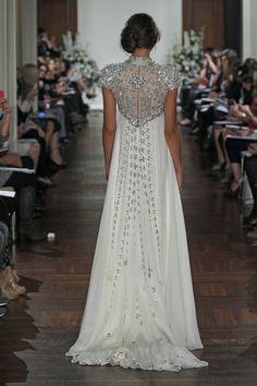 Back of Jenny Packham's Rapunzel gown