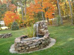 Nice backyard water feature