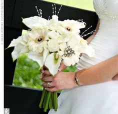 Neat white bridal bouquet