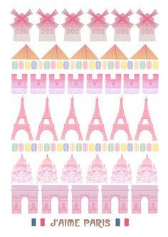 Illustration print J'aime Paris poster print by bearandrobotstudio