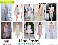 Lilac #Pastel #Colors Fashion #Trend for Spring Summer 2014 at New York #Fashion Week #NYFW #Spring2014 #Color #Trends  #lilac