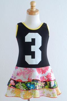 3rd birthday dress! Upcycled!