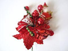 Vintage Corsage Santa Bells Spun Cotton by NeatoKeen on Etsy, $12.99