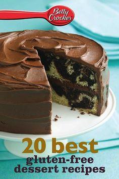 Bargain e-Cookbook: Betty Crocker 20 Best Gluten-Free Dessert Recipes {99 cents!}