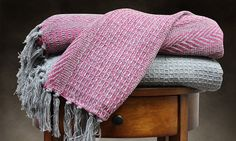 2-Pack of 100% Cable Knit Throw Blankets