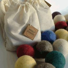 wooly balls - an alternative to disposable dryer sheets!