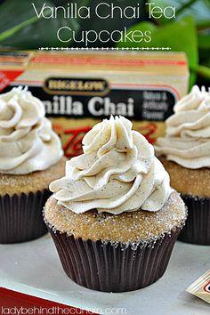 Vanilla Chai Tea Cupcakes - Lady Behind the Curtain