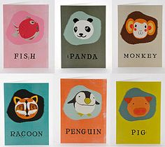 Japanese paper balloon cards (with the balloon inside).  For party bags.