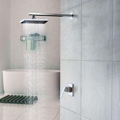 Chrome Wall Mount Rain Single Handle Shower Faucet(0758-HM-6109)