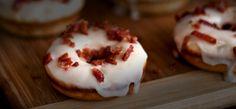 Try this Maple Bourbon Bacon Doughnut with De La Tierre Maple Liqueur Tequila instead of bourbon!