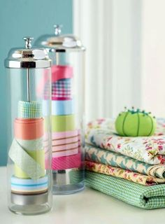 straw containers - ribbon