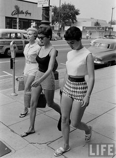 <3 WOW...short shorts of the 50s...Exactly what they're selling in the stores now.