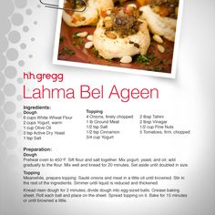 Lahma Bel Ageen, a Middle Eastern cuisine, is a great baked appetizer for the upcoming holiday! #FoodieFriday
