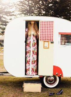 gingham in the trailer
