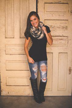 Dottie Couture Boutique - Flannel Infinity- Black, $18.00 (http://www.dottiecouture.com/flannel-infinity-black/)