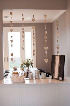 bridal shower decoration, winter bridal shower, bride shower, heart garland, decorations bridal shower, bridal shower ideas winter, bridal showers, bridal shower gift table