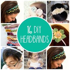 16 DIY Headbands -- making some of these for the girls this summer