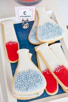 Lab/Beaker Cookies. Science Party.