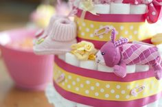 Yellow + Pink = a great color combo for a #babyshower for a little girl this spring!