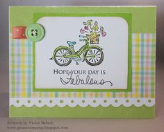Gone Stamping Boutique: H2H Challenge: Go Green Bike Card