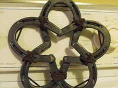 Star made from horseshoes.