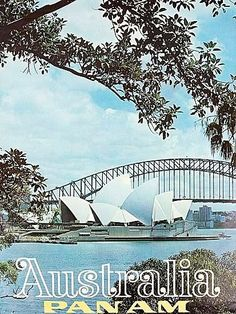 Travel Poster 'Australia Pan Am' 1970's?