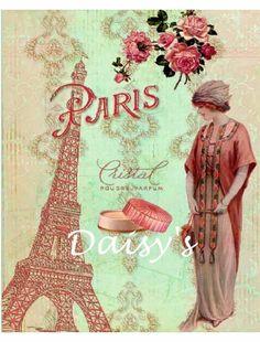 Vintage Paris Applique Quilt Block