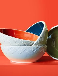Bowls with a pop of color make your food pop, too.
