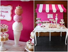 Sweet Shoppe candyland awning over party table. #candyland #birthday #party #ideas #awning