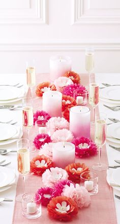 Mother's Day pink table inspiration